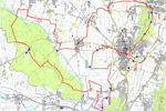 Karte Landtour