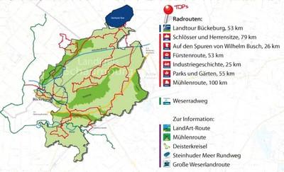Andere Radwege (Karte )