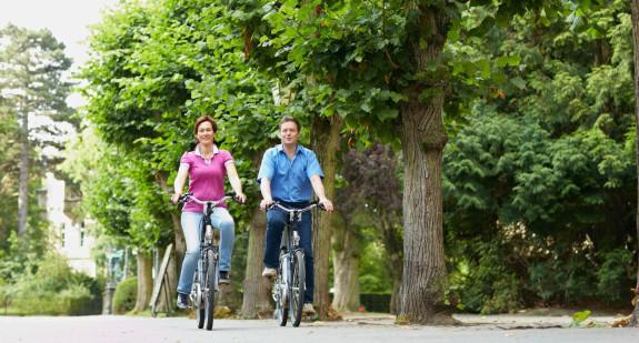 Radfahrer in Bückeburg